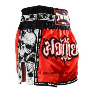 TWINS SPECIAL PANTALONCINI TBS-SKULL ROSSO